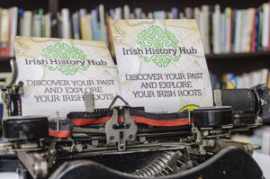 Irish History Hub Old Typewriter
