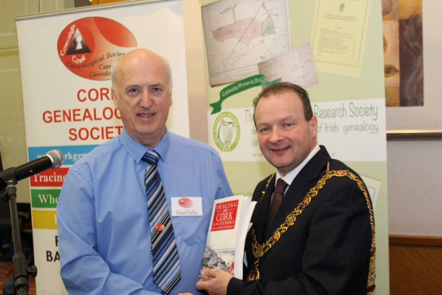 Edward Wallace Chairman of the Cork Genealogical Society and Lord Mayor of Cork Chris O'Leary