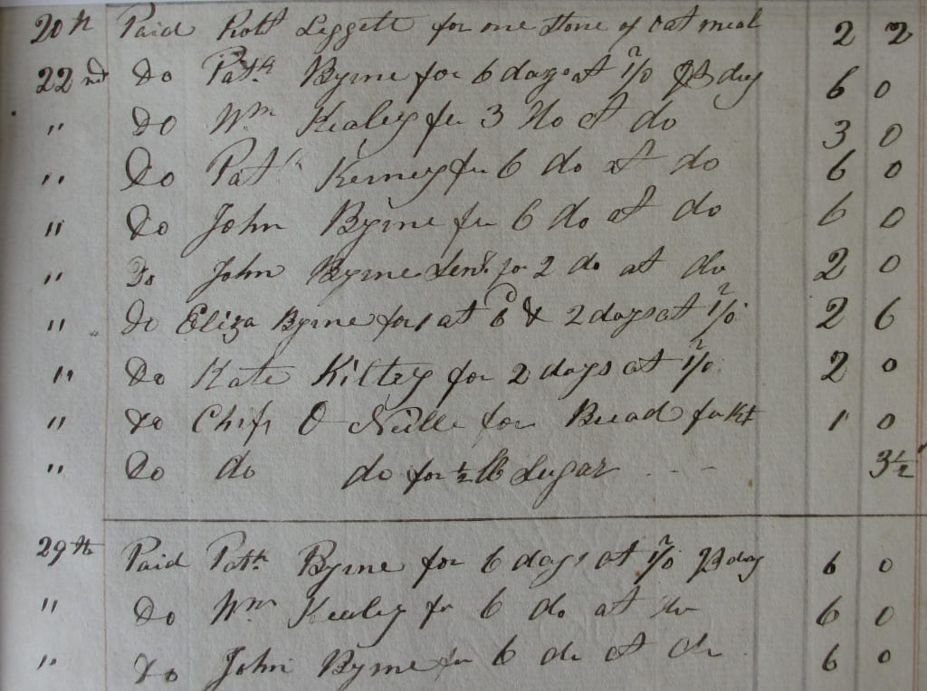 Wex Labourer payments Symes Estate,  Wingfield 1857-9