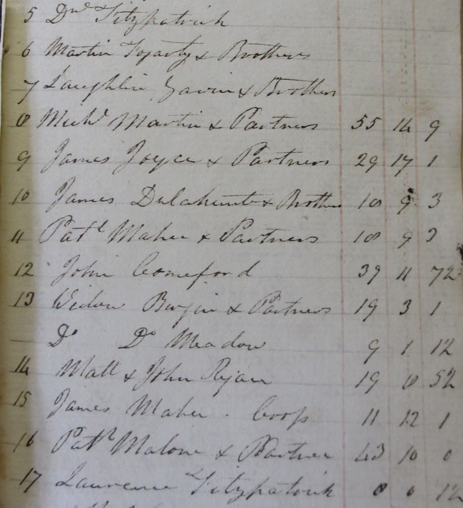 Brown, of Clonboy, Papers. Rentals of Cormackstown and Clonmore, Co. Tipp; estate of Robert Lidwell, 1826-33. NLI, Ms. 9480