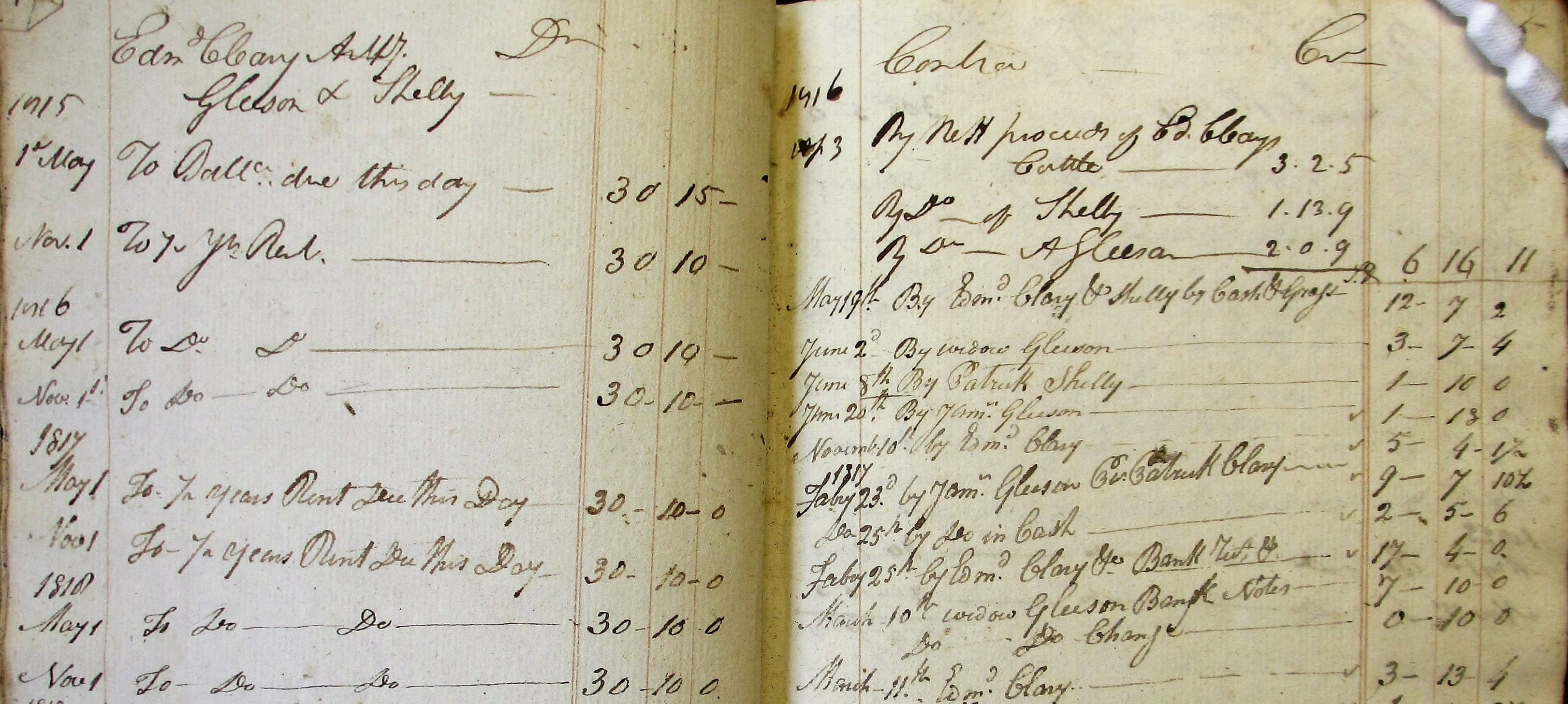 Rental of the estates of John Frederick Trant in and around Dovea, Co. Tipperary, 1815-37. NLI, Ms. 1756