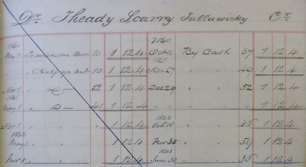 Rental of the Trench estates in Co. Galway, 1840 - 1851. NLI 2577