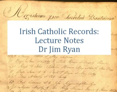 Catholic Church Records:Lecture Notes